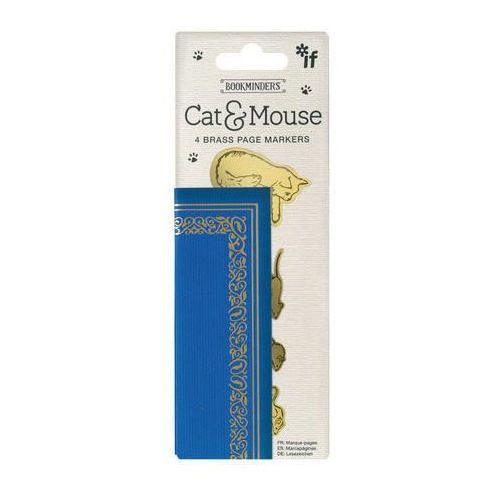 Bookminders cat&mouse - zestaw 4 metalowych zakładek marki If