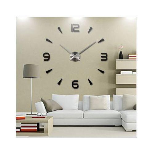 Ogromny Zegar Ścienny 3D (regulowana średnica od 70-150cm!!)., kolor czerwony