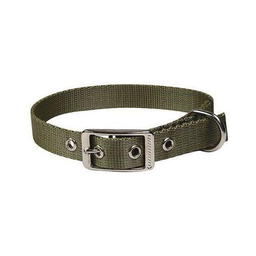 CHABA Obroża dla psa taśmowa LUX gładka, regulowana - Obwód szyi 57cm-64cm - 57cm-64cm \ Khaki (5905133602891)