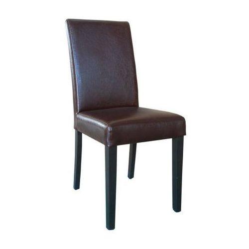 Krzesło ciemnobrązowe | 2 szt., kolor brązowy