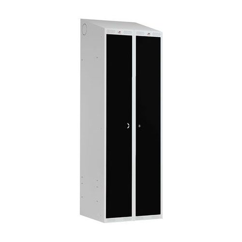 Szafa ubraniowa CLASSIC COMBO, 2 drzwi, 1900x600x550 mm, czarny, 130306