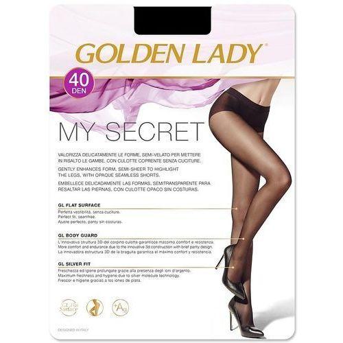 Rajstopy my secret 40 den 3-m, beżowy/melon, golden lady, Golden lady