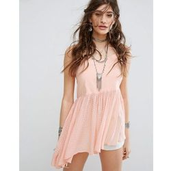 Free people just can't get enough peplum top - pink