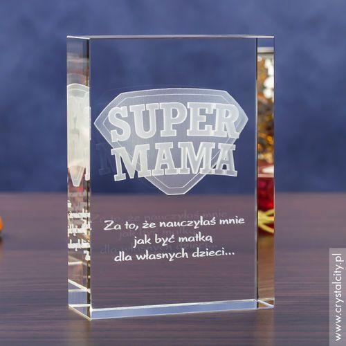 Odznaka 3D »Super Mama« z Twoją własną dedykacją • GRAWER 3D
