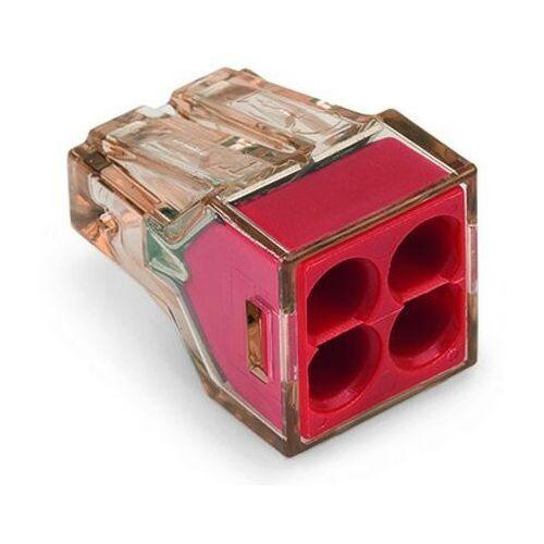 Wago Złączka instalacyjna 4x4mm czerwona 773-604 (4055143243681)