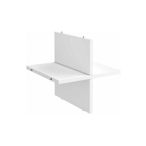 Spaceo Półka krzyżakowa 32.6 x 32.7 x 1.6 cm biała kub