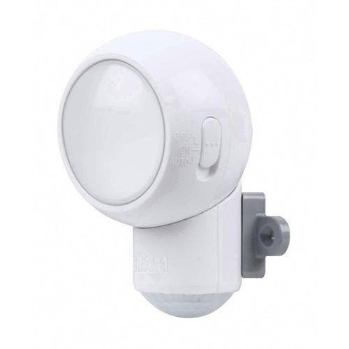 Osram Spylux - reflektorek zewnętrzny led na baterie z czujnikiem biały Ø6,8cm (4008321935021)