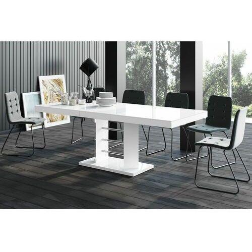 Stół rozkładany linosa lux 160-260 cm biały marki Hubertus