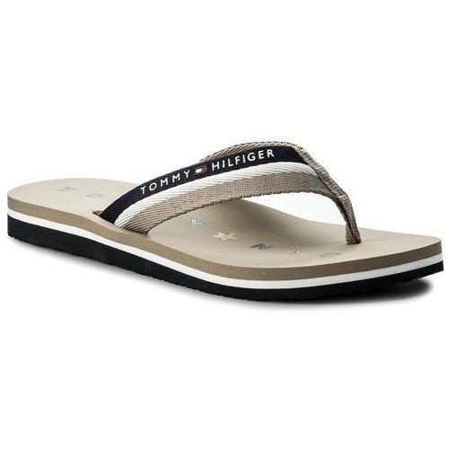 fa2721583cd0a Tommy hilfiger Japonki - tommy loves ny beach sandal fw0fw02370 cobblestone  068