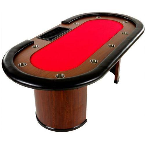 XXL stół do pokera Royal Flush, 213 x 106 x 75cm, czerwony