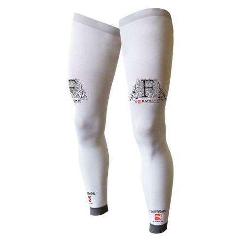 Compressport f-like full leg - nogawki kompresyjne (biały)