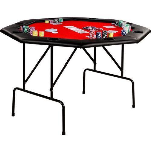 Makstor.pl Czerwony stół do pokera 122x122x76 cm poker kasyno - czerwony