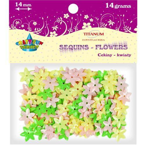 Cekiny kwiaty 14 mm 14g