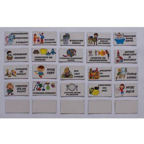Obowiązki magnetyczne do tablicy motywacyjnej - komplet marki Bystra sowa