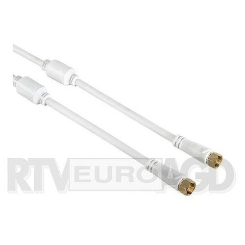 Kabel antenowy HAMA Techline Wtyk F - Wtyk F 100dB 1.5 m Biały (4047443189127)