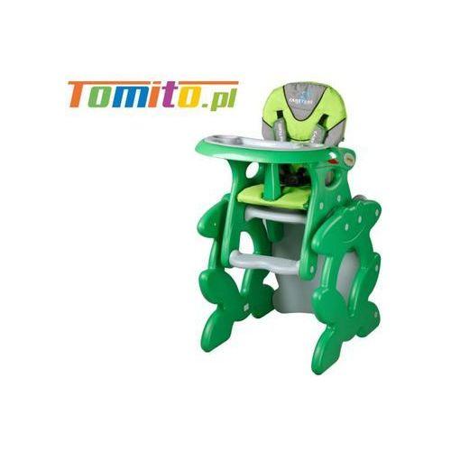 Caretero 2w1 krzesełko stolik do karmienia primus green