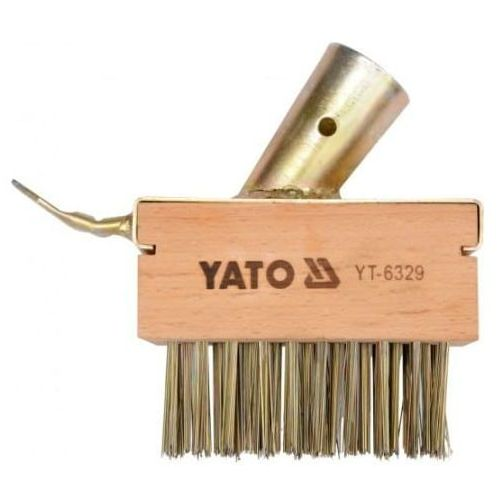Szczotka druciana z radełkiem mocowana na trzonku yato yt-6329 marki Yato/toya