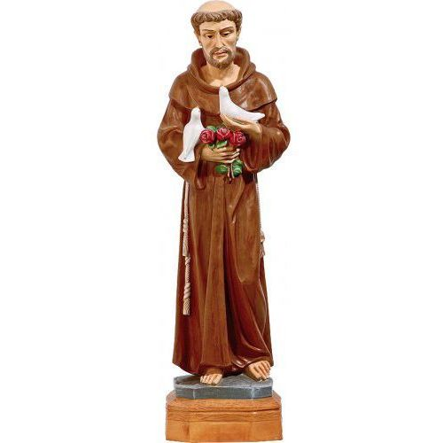 Figura Święty Franciszek z gołąbkami, 50 cm