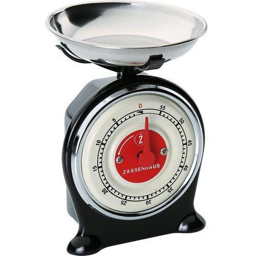 Minutnik kuchenny Retro o kształcie wagi Scale Zassenhaus czarny (ZS-071764) (4006528071764)