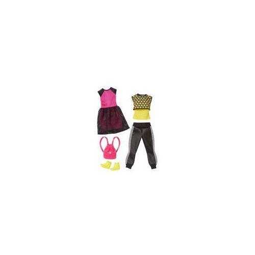 Barbie dwupak ubranek Mattel (sportowa sukienka i dres)