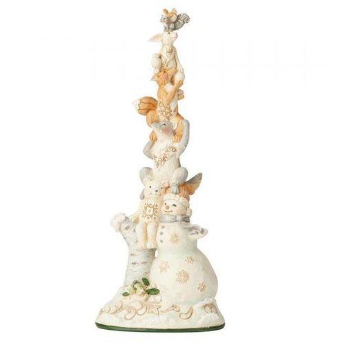 """Bałwanek i przyjaciele """"zimowa przygoda czeka"""" woodland snowman 6004172 figurka ozdoba świąteczna marki Jim shore"""
