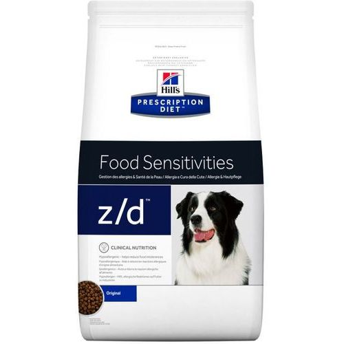 vet diet food sensitivities z/d 2x10kg dwu-pak marki Hills