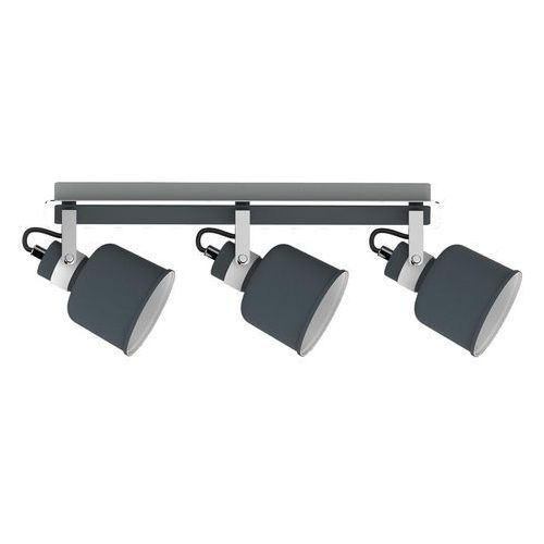 Krislamp Listwa lampa sufitowa spot kama 3x40w e14 betonowy / szary / biały / chrom kr 342-3l (5907582568292)