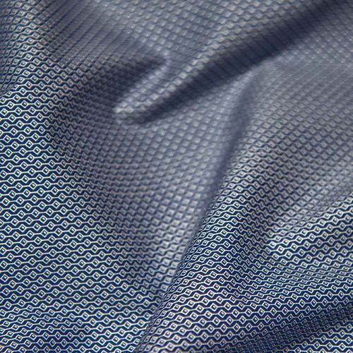 Ultramaszyna Tkanina bawełniana koszulowa - drobny wzór geometryczny na niebieskim