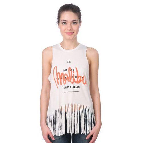 Brave Soul koszulka bez rękawów damska Nell M kremowy