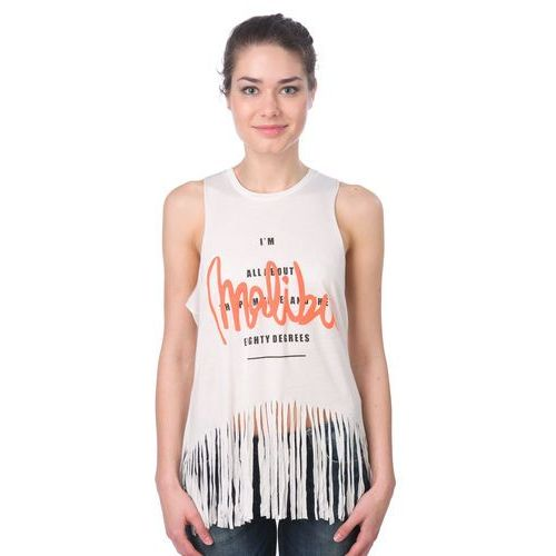 koszulka bez rękawów damska nell s kremowy marki Brave soul