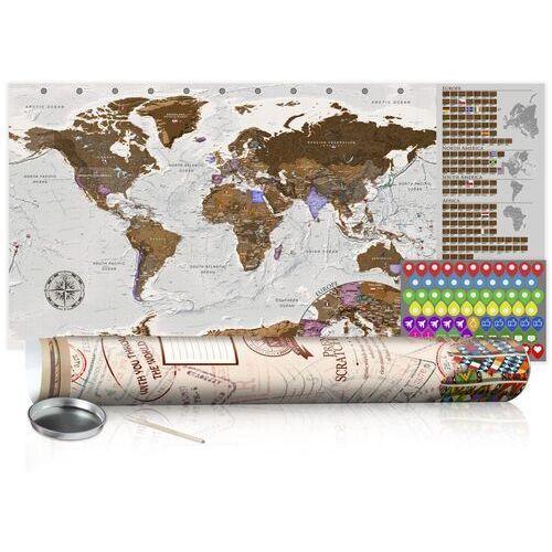 Artgeist Mapa zdrapka - szara mapa - plakat (wersja angielska)