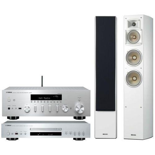 Yamaha Zestaw stereo r-n602 + cd-s300 + ns-f350 biały + darmowy transport! (2900634851994)