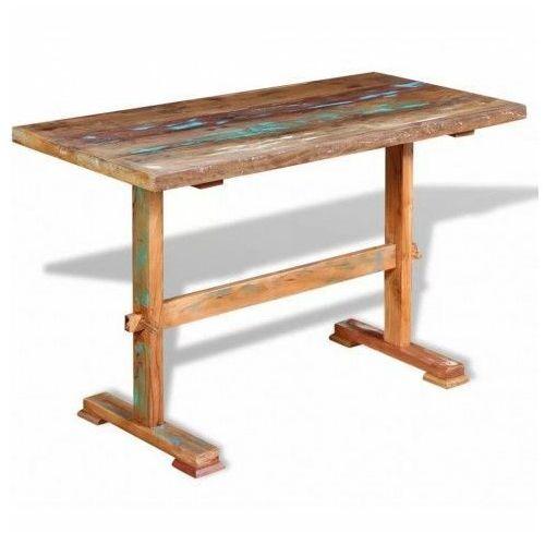Wielokolorowy stół z litego drewna z odzysku – tracy marki Elior