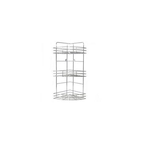 Galicja Półka druciana narożna do łazienki kuchni 3 półki chrom 20713