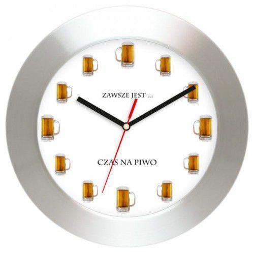 Aluminiowy zegar ścienny Czas na piwo, AL2412CP