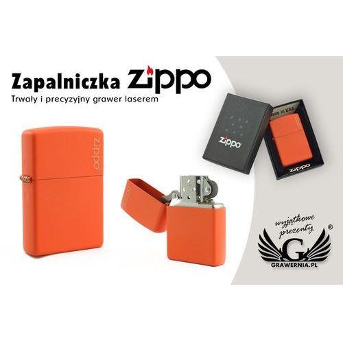Zippo Zapalniczka orange matte logo