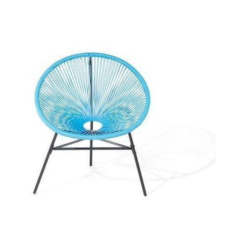Beliani Zestaw 2 krzeseł rattanowych niebieskie acapulco (7105276009856)