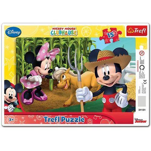 Puzzle 15 ramkowe Myszka Mickey Na wsi