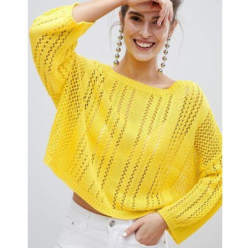 Stradivarius Loose Knit Jumper - Yellow