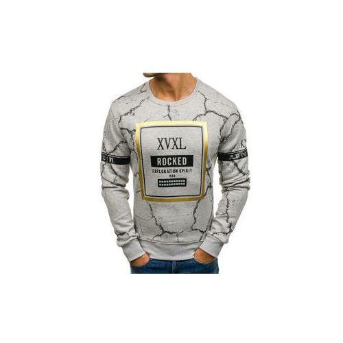 Bluza męska bez kaptura szara denley dd16, J.style