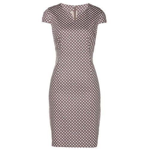 3f03570234 Suknie i sukienki · Bonprix Sukienka brązowo-biały w groszki