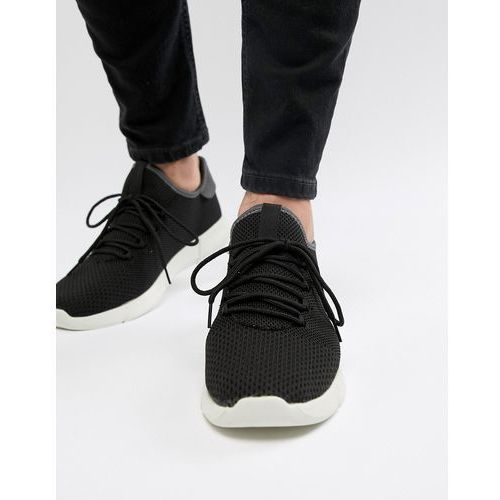 New Look Knitted Detail Trainers In Black - Black