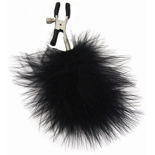 feathered nipple clamps – zaciski na sutki, z futerkiem marki S&m