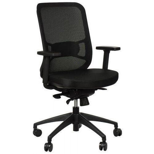 Krzesło obrotowe biurowe GN-310/CZARNY z wysuwem siedziska, GN-310/BLACK/BLACK