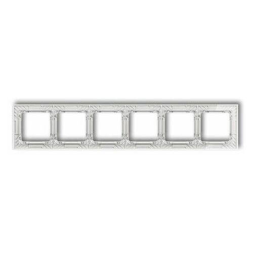 DECO Ramka uniwersalna sześciokrotna transparentna DECO Art - efekt szkła (ramka: transparentna spód: biały) transparentny 52-0-DRS-6