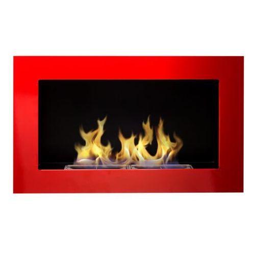 Globmetal Biokominek 650x400 czerwony połysk + gratis