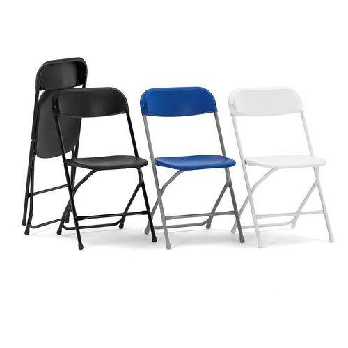 Krzesło składane Aberdeen biały/biały