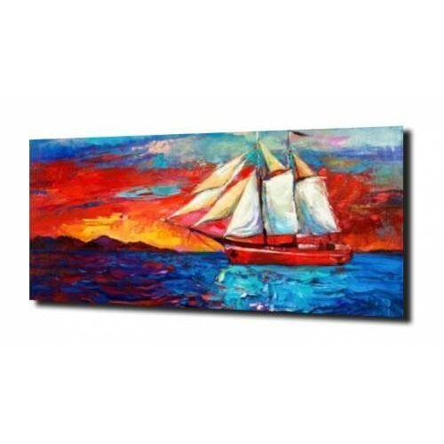 obraz na szkle Żeglowiec na morzu 100X80, F816