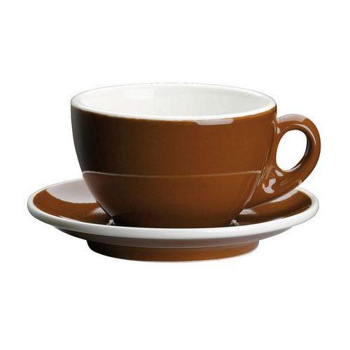 filiżanka do kawy, ze spodkiem, 0,2 l, brąz (4017166215069)