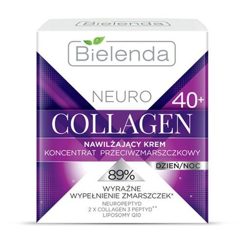 Bielenda  neuro collagen krem nawilżający z efektem przeciwzmarszczkowym 40+ (neuropeptide, 2x collagen 3 peptyd, liposomy q10) 50 ml (5902169022747)